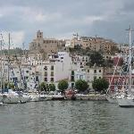 ibiza town from boat