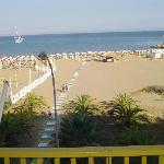 Vista spiaggia dall'Hotel