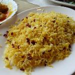Tasty rice (part of 'Zereshk Polow with Chicken' menu)