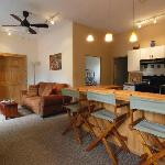 The 2-bedroom Guesthouse sleeps 5, with fully equipped kitchen