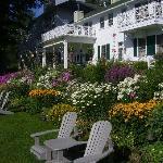 English style perennial garden.
