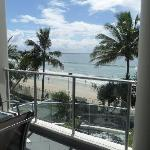 view from main balcony of pool/beach