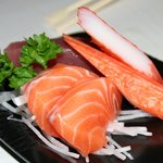 Salmon sashimi that was included in my spouse's Set Dinner B menu