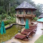 The steam sauna. Note that there is a hole inseide the sauda with stairs that you can jump in th