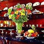 Flower arrangement on the XVIIIth c dresser