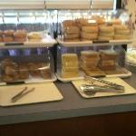 Breads and sweets at complimentary breakfast