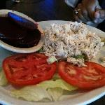 Chicken salad lunch plate