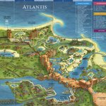 Map of Atlantis, Paradise island, Bahamas