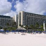The Hotel as seen from its beach