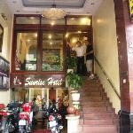 Front entrance of Sunrise Hotel