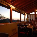 You can enjoy the view from the restaurant
