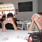 Cards in the dining room