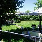 The peacuful hotel garden