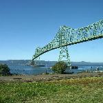Blick aus dem Fenster auf dem Columbia River