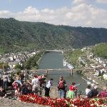 view of Cochem and the River Mosel from the front gate