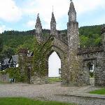 Old castle garden wall
