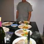 Amazing dinner prepared by Wilbur, Private Chef