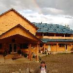 The lodge with rainbow and Doris