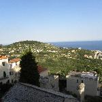 Aussicht vom Hotel gegen Pietra Ligure