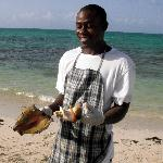Conch harvesting at Da Conch Shack