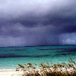Storm passing by over Grace Bay