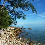The beach at Damai in the morning.