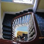 narrow stairwell