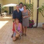 mit unseren gastgebern Marina und Guiseppe