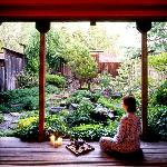 Start the bath experience in your private Japanese Tea Garden
