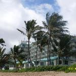 The cottages/condos.  This pic taken from the beach