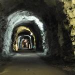 Tunnel leading closer to the glacier
