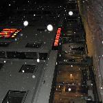 Reges Schneetreiben