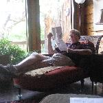 Enjoying comfy furniture in the Lakehouse