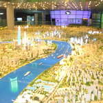 scale model of city of Shanghai