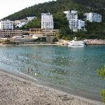 view from El Pinar across the cove