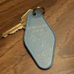 Tomahawk motel room key