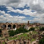 the Forum, viewed from the Palantine Hill