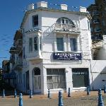 The historic Grand Pacific on the Beach