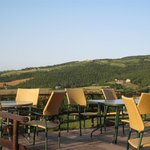 Outdoor seating to enjoy the marvelous view