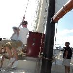 HHoisting the sail - Kajama Tall Ship- Jul. 30th/10