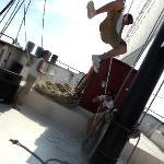 Hoisting the sail - Kajama Tall Ship- Jul. 30th/10
