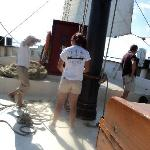 Hoisting the sail - Kajama Tall Ship- Jul. 30th/10