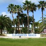 Clearwater Beach is right across the street.