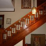The staircase in the entry hall.
