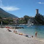 lake garda and castle