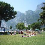 Riva del Garda, grass lake beach