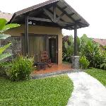 Enterance to our bungalow