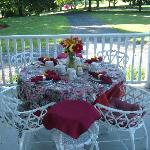 Relax anytime on our wrap around front porch