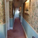 The hotel hallway..