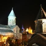 the same view by night